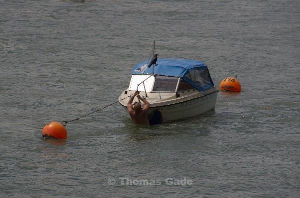 Geschafft, aber wie kommt man auf das Boot?