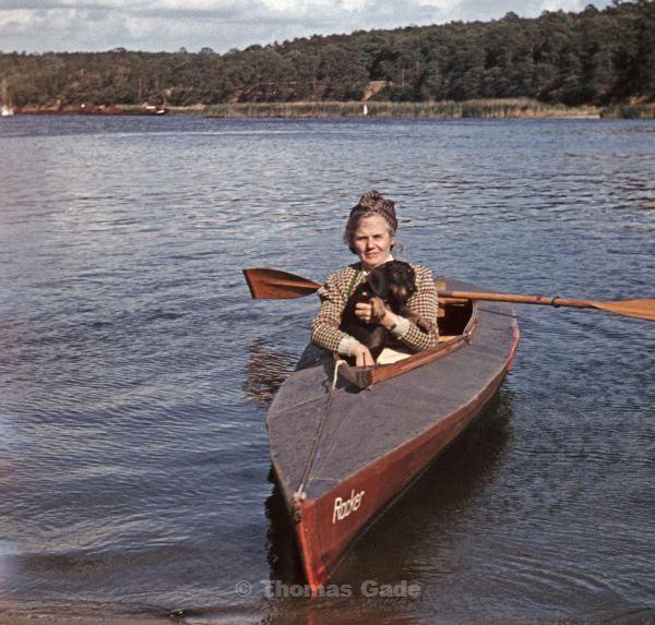 1943. Berlin. Havel. Paddeltour im Faltboot