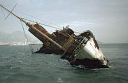 Queen Elizabeth - Seawise gekentert vor Hongkong