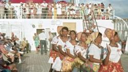 Karibik. Unterhaltung auf einer Kreuzfahrt