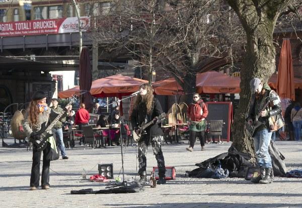 Musiker am Hackescher Markt