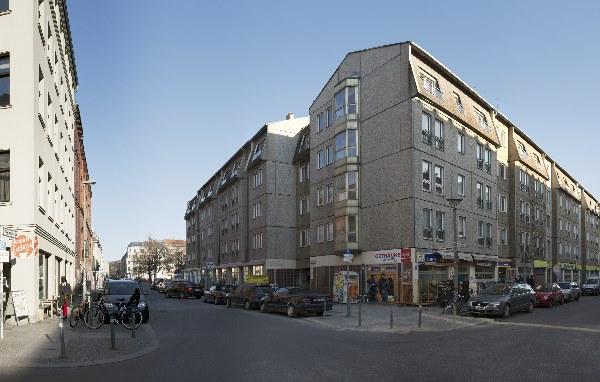 Plattenbau in der Auguststraße