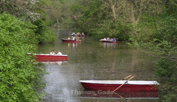 Ruderboote im Tiergarten