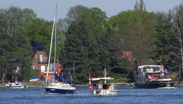April 2012. Sportboote in Potsdam
