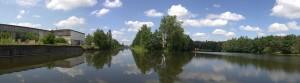 Abzweig in den Seitenarm des Kanals
