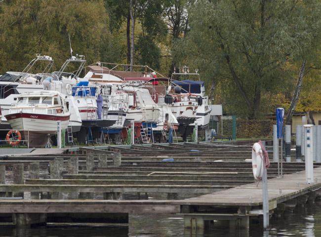 Boote an Land in  Hennigsdorf
