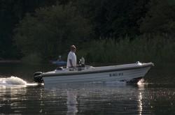 Motorboot auf dem Tegeler See
