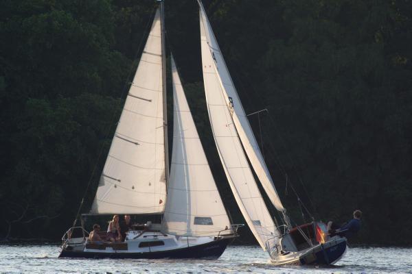 11. 8. 2015. Berlin. Reinickendorf. Tegeler See. Segelboote. Segeln. Wassersport. Boote