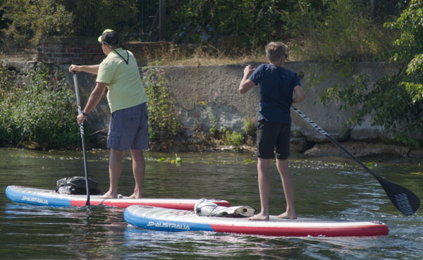 Total im Trend - Stand up Paddler